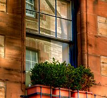 Reflections in the Window, Edinburgh by Christine Smith