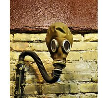 Gas Mask With Clarinet Photographic Print
