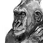 Gorilla Drawing #3 by WoolleyWorld