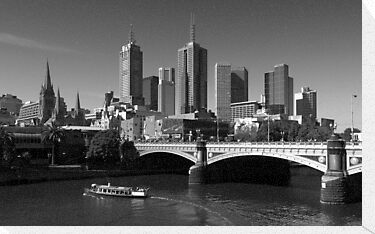 Melbourne Skyline by Ben Loveday