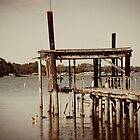 Old Boat Dock by Angi Allen