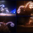 Christmas lights at night collage by Tarolino