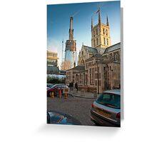 Half-Way-There: The Shard, Lambeth, London. Greeting Card