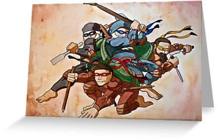 Dead Genius Ninja Artists by Shed Simas