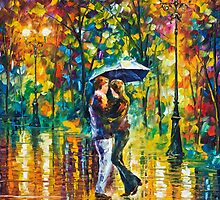 RAINY DANCE- Original Art Oil Painting By Leonid Afremov by Leonid  Afremov