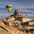 Red Rock Balloon Rally and Church Rock by Mitchell Tillison