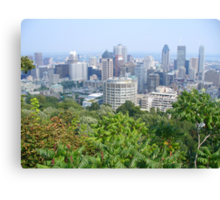 Montreal, as viewed from the Mountain Canvas Print
