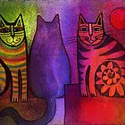 Cat party by Karin Zeller