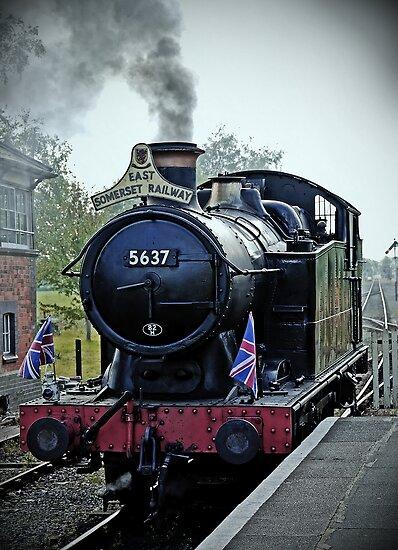 Steam train at Cranmore station, Shepton Mallet, Somerset, England, UK by buttonpresser