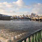 Vltava, Karlův most & Hradčany by Denitsa Dabizheva