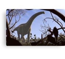 Futalognkosaurus dukei, a Cretaceous sauropod dinosaur Canvas Print