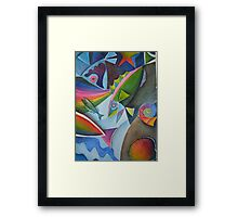 Fish abstract doodle Framed Print
