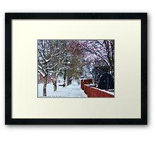 Winter Street Framed Print