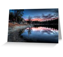 Curve Into Sunset Greeting Card