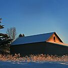 Warm Barn for a Zero Morning by Geno Rugh