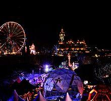 Edinburgh At Night by Lynne Morris
