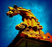 Gargoyle atop a Williamstown roof by Deb Gibbons