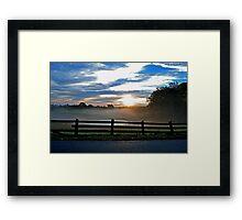 Stage Junction Sunrise Framed Print