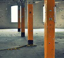 Yellow pillars by Ben Jones