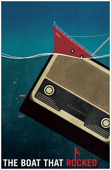 Minimalist Movie Poster: The Boat That Rocked Movie Poster by Flef