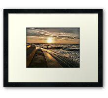 Golden Sunset - Cleveleys . Framed Print