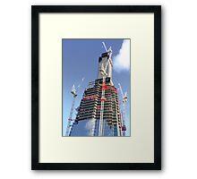 Crane Driver Anyone ?? - The Shard London Bridge Framed Print