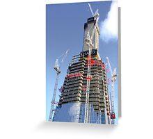 Crane Driver Anyone ?? - The Shard London Bridge Greeting Card