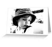 Little Girl Wearing A Hat Greeting Card