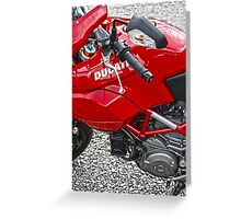 Red Ducati Greeting Card