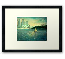 Into the Light - Sydney Harbour  Framed Print