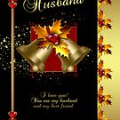 Husband Christmas Card - Happy Holidays by Moonlake