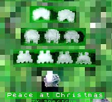 Peace Invaders Christmas Card by Blackbird76