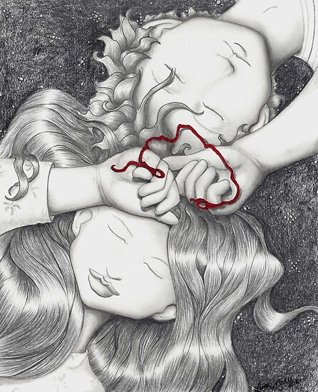 Red String of Fate by ninamarie