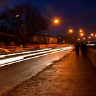 Light trails and passers by by Fatboy