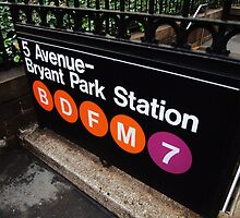 5th Avenue Subway Station by Stephen Burke