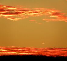 Red and Orange Skies over Patrick Arkansas by David  Hughes