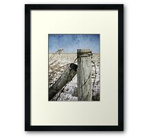 Of Wood And Wire Framed Print