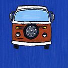 Orange &amp; White VW camper  by vschmidt