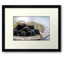 Blueberries & Yoghurt Framed Print