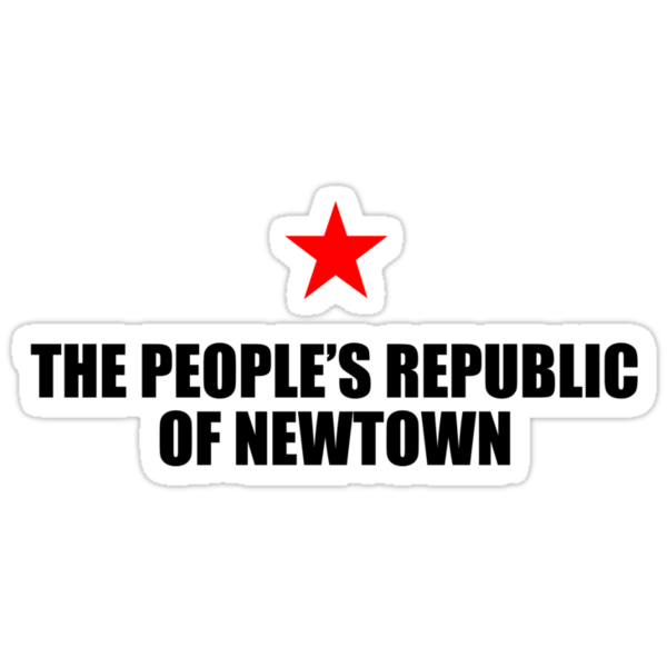 People's Republic of Newtown (Black) by PJ Collins