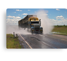 Cattle Truckin Canvas Print