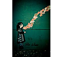 Be free - stencil street art Adelaide Photographic Print