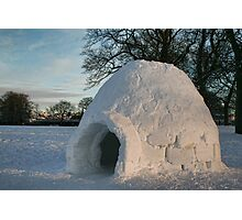 Igloo in Duthie Park, Aberdeen Photographic Print