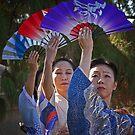 Fan dancers by Linda Sparks