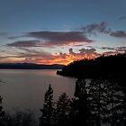 Lake Coeur D' Alene colors by Steve Biederman