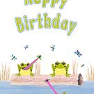 Hoppy Birthday Frogs Card by Nikki Smith