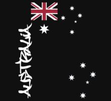 Australia flag, Southern cross and text by Craig Stronner