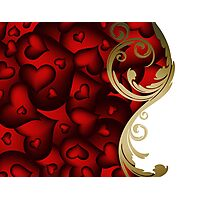 Valentines background Photographic Print