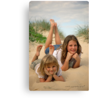 Beach Sisters © Vicki Ferrari Photography Canvas Print