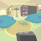 The living room '50s cartoon style by SenPowell